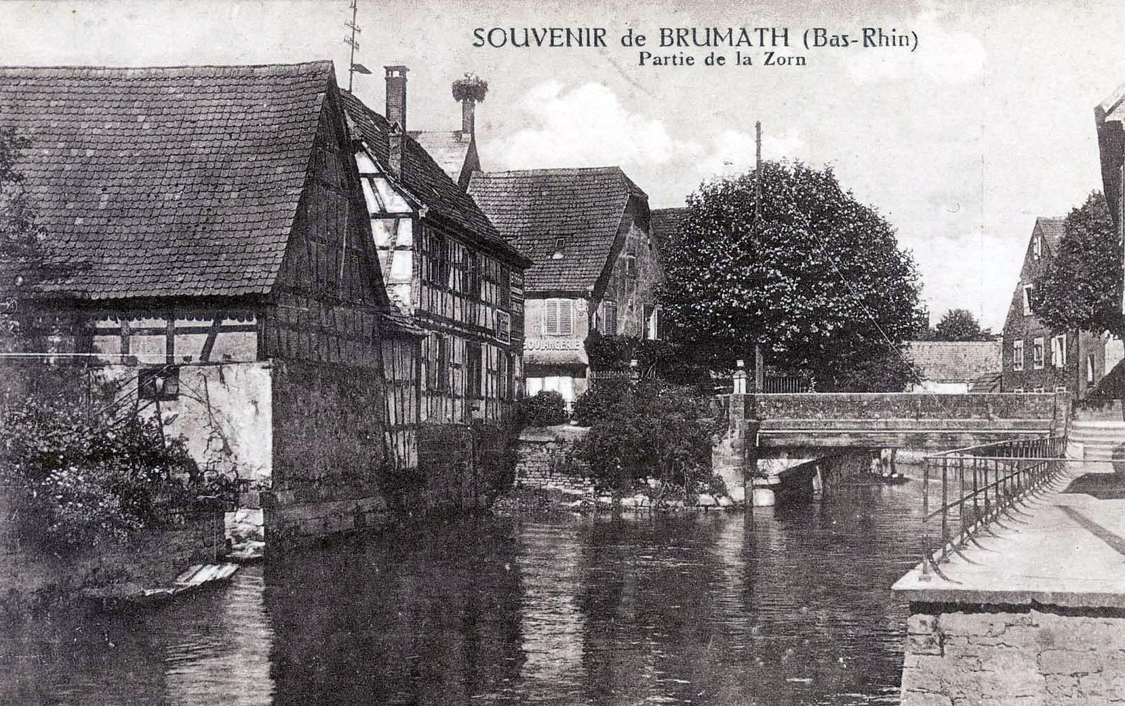 Brumath, carte postale ancienne, aux environs de 1920 - Atlas des paysages d'Alsace