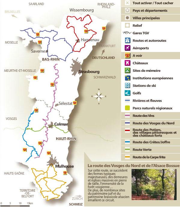 Carte Touristique Alsace Du Nord.Atlas Des Paysages D Alsace Routes Et Panoramas Une