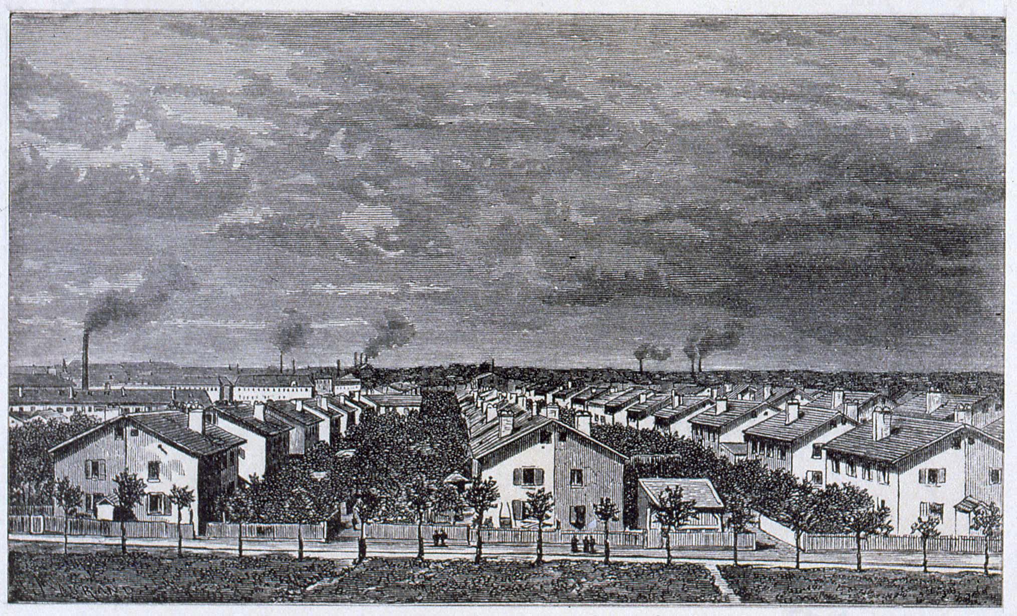 meininger graveur mulhouse cit ouvri re 1860 atlas des paysages d 39 alsace. Black Bedroom Furniture Sets. Home Design Ideas