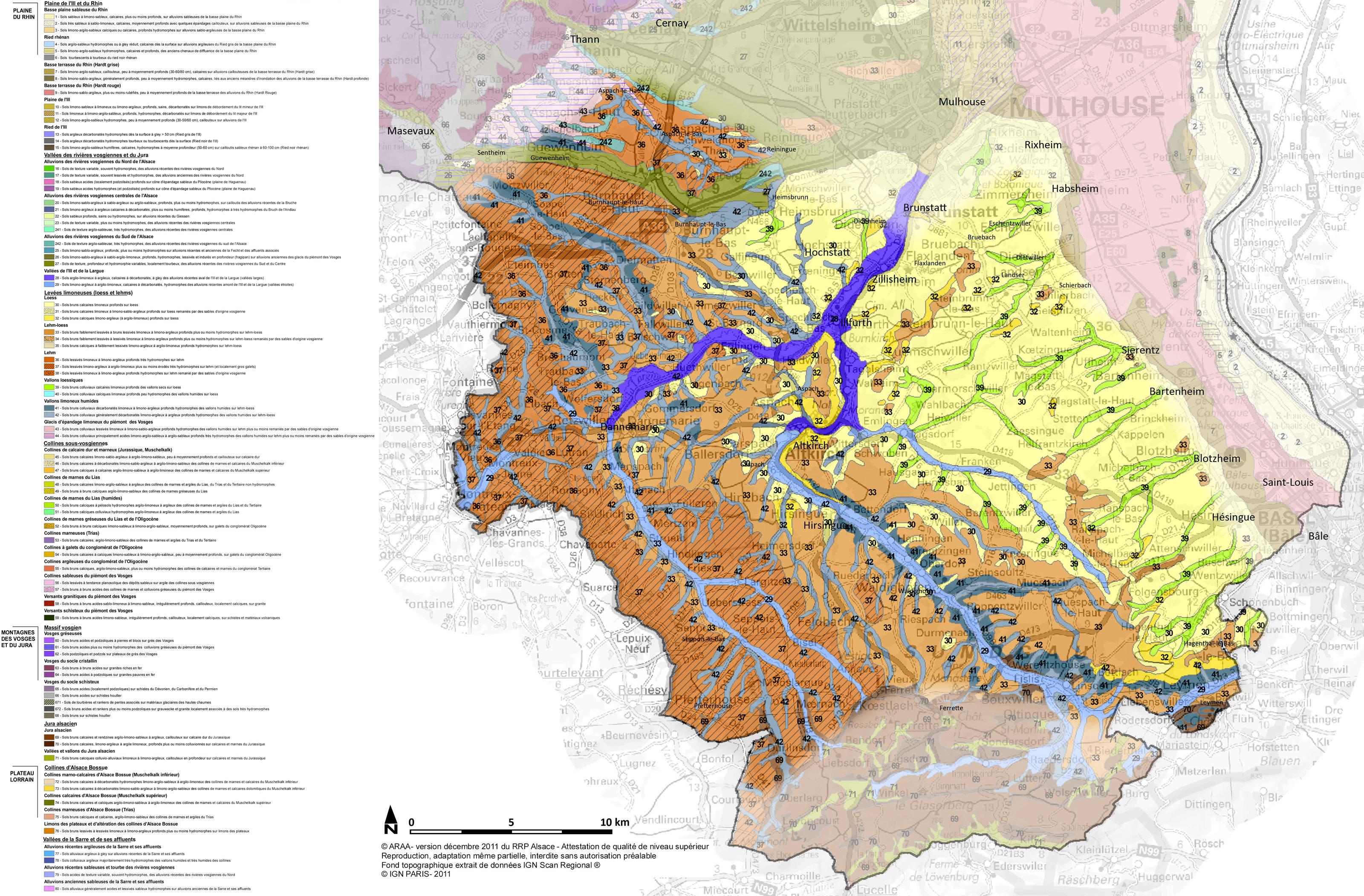 Carte Alsace Sundgau.Sundgau Carte Des Sols Source Arra Atlas Des Paysages D