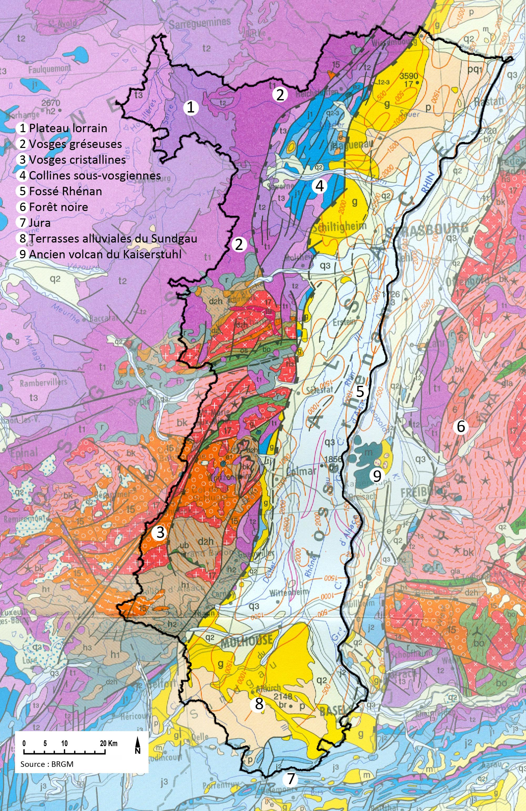 Carte Calcaire Alsace.Carte Geologique De L Alsace La Plaine D Alsace Correspond